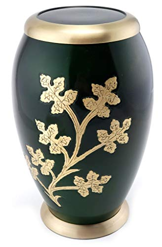 EDENSTAR NEXTG Premium Quality Classic Cremation Urn with Unique Design - Adult Funeral Memorial Urn for Human Ashes Handmade Solid Vase Handcrafted Perfection - Urn Design
