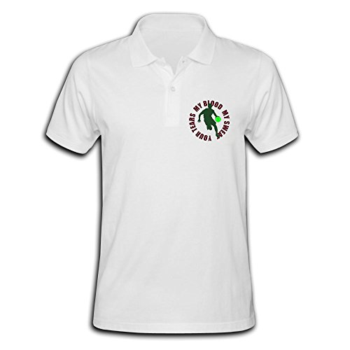 Men's Basketball 10 Solid Short Sleeve Pique Polo Shirt White US Size M