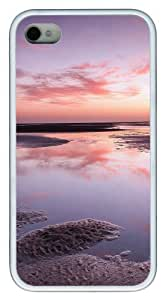iphone 4S case mate case Ocean views TPU White for Apple iPhone 4/4S