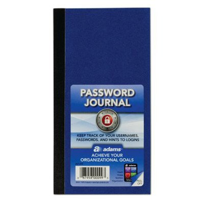 6.25'' x 3.25'' Password Journal (Set of 48) by Adams Business Forms