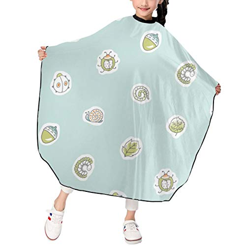 Yihengsheng Bug Dots Rev Blue Kids Haircut Barber Cape Cover for Hair Cutting,Styling and Shampoo