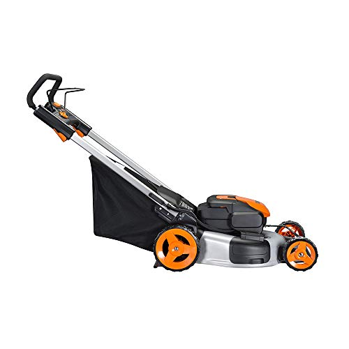"Worx WG774 Intellicut 56V Cordless 20"" Lawn Mower with Mulching Capabilities, Orange and Black"
