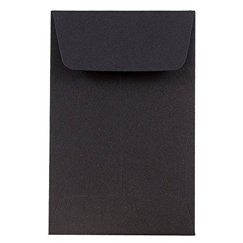 "JAM Paper #1 Coin Envelopes - 2 1/4"" x 3 1/2"" - Eclipse Black - 50/pack"