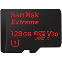 SanDisk Extreme microSDHC UHS-I 128GB Memory Card with Adapter