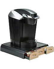 Mind Reader 'Anchor' Triple Drawer single serve coffee pod holder, Wood Veneer