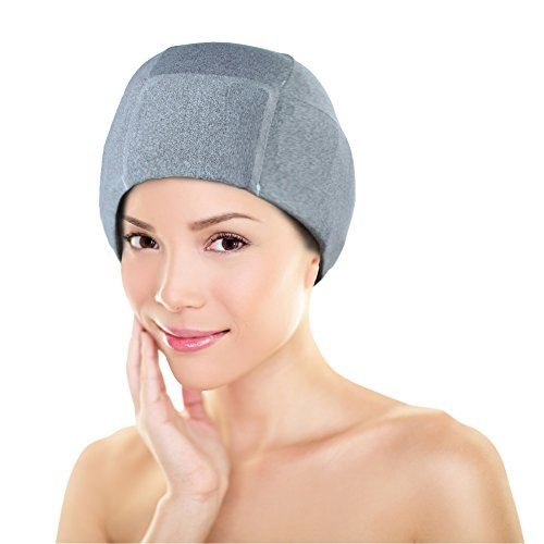 Migraine Gel Ice Hat by FOMI Care | Cooling Headache Pack | Wearable Cold Therapy Wrap for Tension, Sinus, Pressure Pain Relief | Stress Reliever | ()