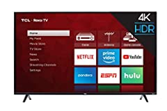 The 4-Series 4K TCL Roku TV delivers stunning Ultra HD picture quality with four times the resolution of Full HD for enhanced clarity and detail, as well as endless entertainment with thousands of streaming channels. TV. High dynamic range (H...