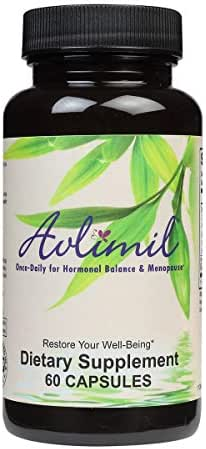 Avlimil® Hormone Balance & Menopause | Relief from Mood Swings, Hot Flashes, Night Sweats and Irritability - Isoflavones, Black Cohosh, Raspberry, Valerian, Sage, Red Clover, Lemon Balm - 1-Month