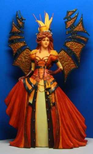 Steampunk Fashioned Winged Fairy Queen Statue