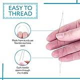 15 Pack Big Eye Beading Needles 3 Sizes - Easy to