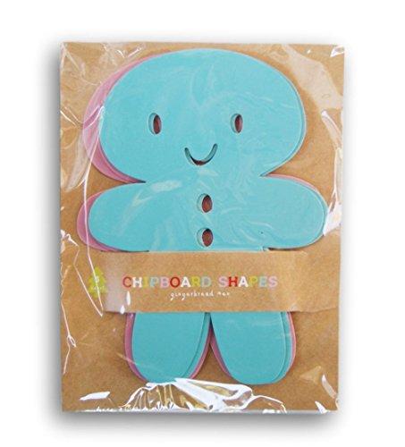 Winter Chipboard - Winter Christmas Holiday Decor Chipboard Gingerbread Men - 5 Pc