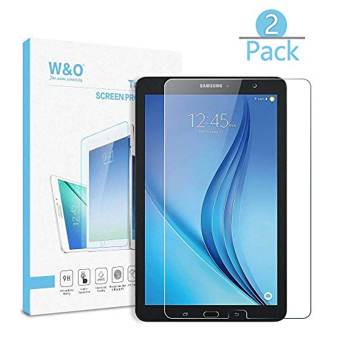 [2-Pack] T560 9.6 Tab E Glass Screen Protector,W&O Tempered Glass Screen Protector Film for Samsung Galaxy Tab E 9.6 T560 High Definition Crystal Clear Bubble Free Anti Scratched