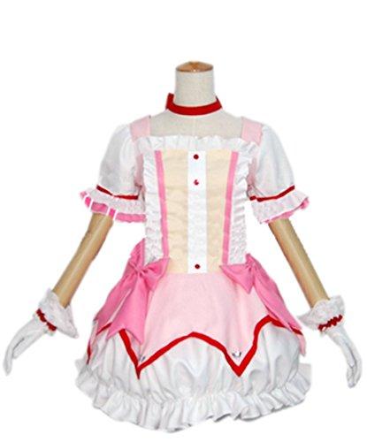 [Koveinc Puella Magi Madoka Magica Kaname Cosplay Costume-Female-XX-Small] (Puella Magi Madoka Magica Madoka Kaname Cosplay Costume)