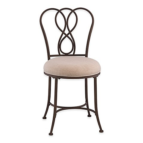 Christina Vanity Stool in Bronze by