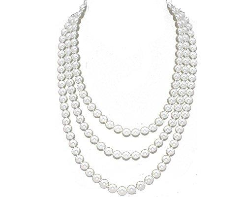 Fun/Flirty White Faux Pearl...