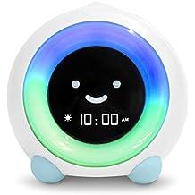 MELLA Ready to Rise Children's Sleep Trainer, Alarm Clock, Night Light and Sleep Sounds Machine (Arctic Blue)