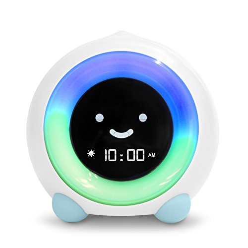 LittleHippo Mella Ready to Rise Children's Trainer, Alarm Clock, Night Light Sleep Sounds Machine (Arctic Blue)