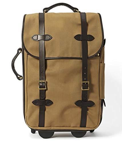 - Filson Medium Rugged Twill Rolling Carry-On Bag, Tan