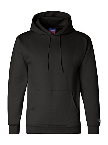 Champion Eco 9 oz. Pullover Hood, 2XL, BLACK ()