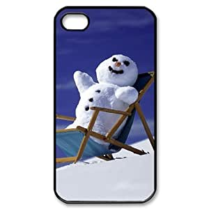 Hard Shell Case Of Snowman Customized Bumper Plastic case For Iphone 4/4s