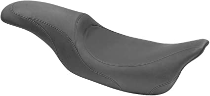 Black Mustang 76588 Tripper Fastback One-Piece 2-Up Motorcyle Seat for Harley-Davidson 1997-2007