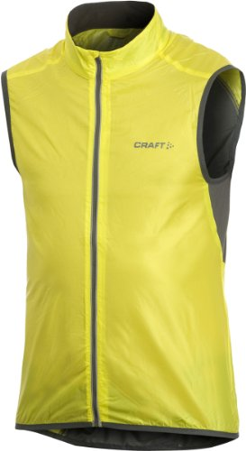 Craft Sportswear Men's Performance Bike Cycling Reflective Light Vest: protective/riding/cooling/coat/outerwear, Yellow, Small ()