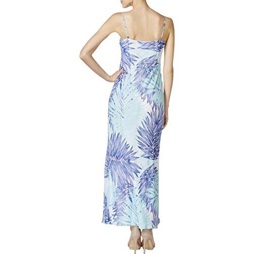 Klein Chiffon Maxi Dress Womens Printed Calvin Multi Seaglass dzq7n