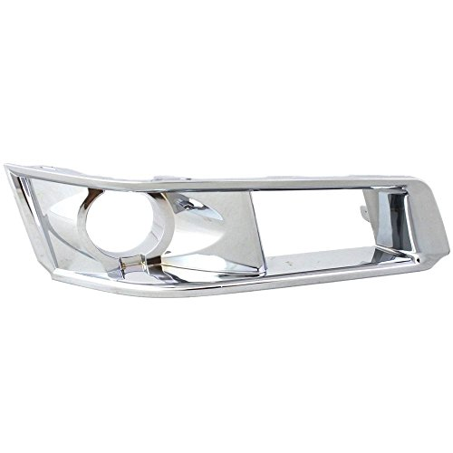 Fog Light Molding compatible with Cadillac CTS 08-13 Bezel W/HID Headlights Right Side