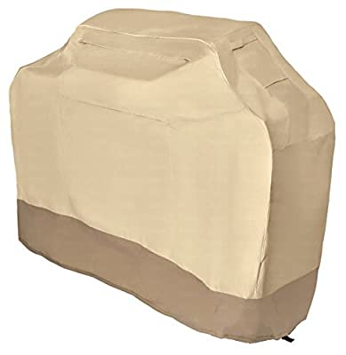 LiBa Gas Grill Cover 58in for Weber, Char Broil, & More - Heavy Duty 600 Denier Fabric w/ 36 Month Warranty Against Rips or Tears.