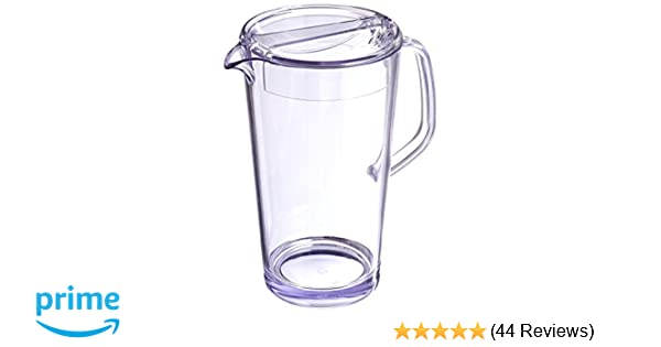 Clear 1.9 L Service Ideas 10-00403-000 Cold Beverage Pitcher with Lid