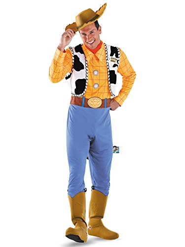 Disguise Men's Woody Deluxe Adult Costume,Multi,XL (42-46) -