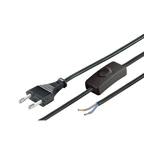 Cable alimentacion con Interruptor Tipo C 1.5 Metros Negro, Cablepelado