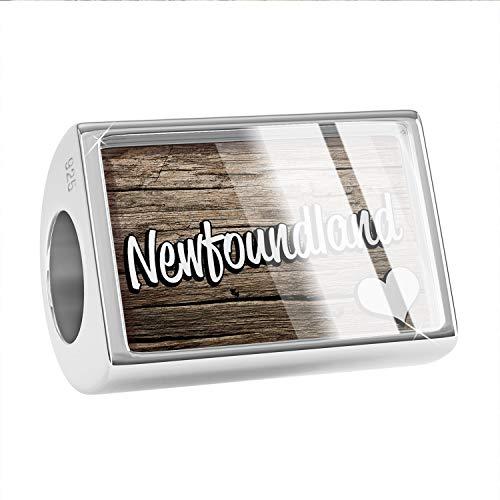 Newfoundland Dog Charm - NEONBLOND Charm Newfoundland, Dog Breed Canada 925 Sterling Silver Bead