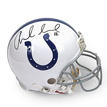 7954b598304 Amazon.com  Andrew Luck Autographed Indianapolis Colts Mini Helmet ~Open  Edition Item~ Panini Authentic  Sports Collectibles