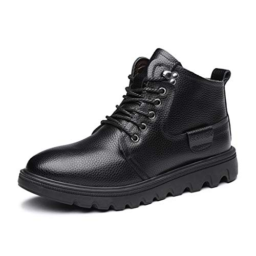 (GanQuan2018 Men's Martin Boot Lace-Up Fashion Winter Black Brown Work Boots)