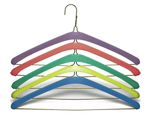 Non Slip Grips Foam Hanger Covers for Metal Wire Clothes Hangers 16 inch (40cm) HANGERS NOT INCLUDED Soft Foam Protects Lingerie, Slips, Tank Tops, Spaghetti Straps, Dry Cleaning, Laundry 50 Count