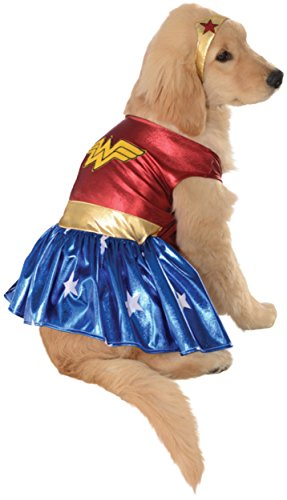 DC Comics Pet Costume, X-Large, Wonder Woman from Rubie's