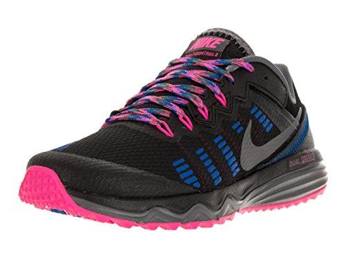 Nike Women's WMNS Dual Fusion Trail 2 Running Shoes Black (Black / Grey-drk Pnk Blst-ht Bl) 9A9nJscU