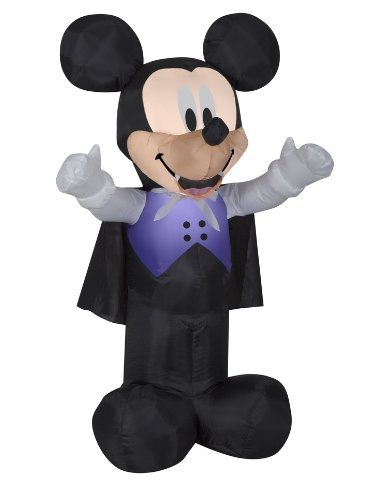 3.5 Feet Tall Airblown Self Inflatable Mickey And Minnie Mouse Halloween Decorations Outdoor Yard Decor With Energy Efficient LED Light
