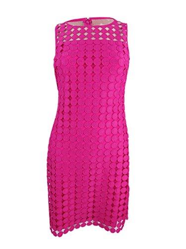 Lauren Ralph Lauren Womens Geometric Lace Overlay Cocktail Dress Pink (Ralph Lauren Pink Dress)