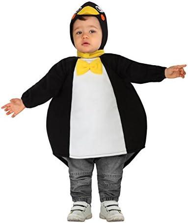 Atosa-26634 Pingu Disfraz Pingüino, color negro, 0 a 6 meses ...