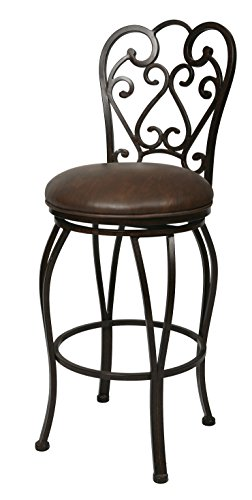 Pastel Furniture MA-222-26-AR-649 Magnolia Swivel Barstool, 26-Inch, Autumn Rust and Florentine Coffee