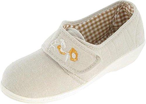 Mirak Damen Sommer-Boost Touch & Schließen mit Klettverschluss Schuhe, Textil Beige