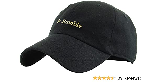 73362a36c8013 Amazon.com  KBSV-074 BLK Be Humble Dad Hat Baseball Cap Polo Style  Adjustable  Clothing