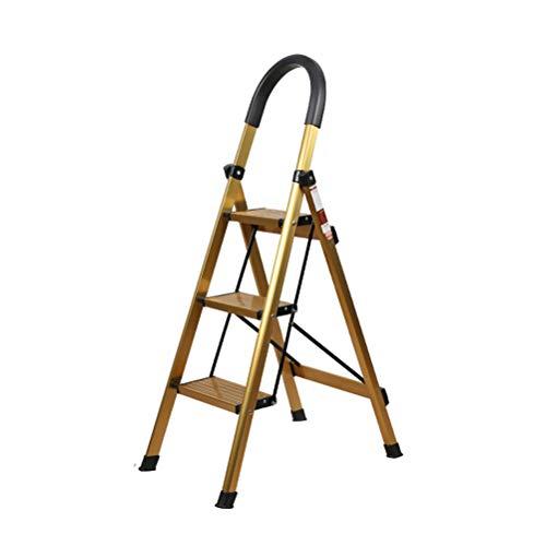 Step Stool Wooden- Taburete Plegable Plegable del Paso de la Escalera Multifuncional de Las escaleras de Tijeras con la barandilla, Capacidad maxima 150KG Welcome (Color : 1#)