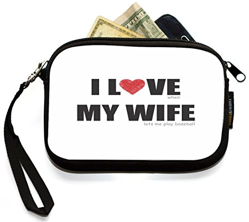 UKBK I Love my Wife - Baseball Humor Clutch Wristlet with Safety Closure by Rikki Knight (Image #2)