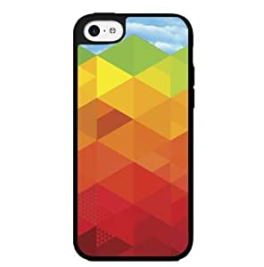 Rainbow Geometric Shapes Hard Snap on Phone Case (iPhone 5c)