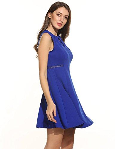 ACEVOG Damen Elegant Sexy Sommerkleid Ballkleid Ärmellos ALinie ...
