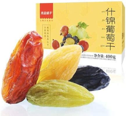 中国名物 おつまみ 大人気 良品铺子 什锦葡萄干 4色葡萄 新疆特产果干 休闲零食 400g