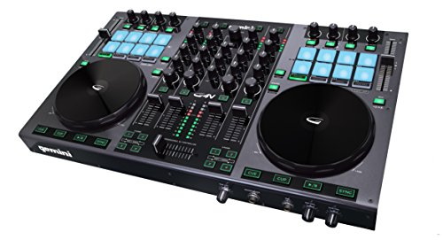 Software Turntable Controller (Gemini GV Series G4V Professional Audio 4-Channel MIDI Mappable Virtual DJ Controller with Touch Sensitive Jog Wheel and LED Monitor)